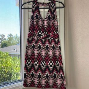 Banana Republic Summer Dress Size 0 Pink Brown
